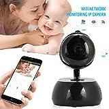 Macchina fotografica del IP Wifi di videosorveglianza di TOPmountain 1080P Hd, macchina fotografica del monitor del bambino della lente di 3.6Mm per la casa - il nero