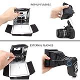 Soft Box DSLR Blitz Diffusor. Zwei Öffnungen für Pop Up Blitze, Speedlight. Canon EOS 750D 700D 80D 70D 100D / Nikon D5300 D3300 D7200 / Sony SLT-A58K - 3