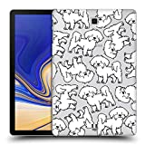 Head Case Designs Maltese Hunderasse Muster 4 Ruckseite Hülle für Samsung Galaxy Tab S4 10.5 (2018)