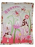 Unbekannt Patchworkdecke 80 cm * 105 cm - Fee Elfen Baby rosa lila Decke Kuscheldecke Kinder Plaid Kinderdecke