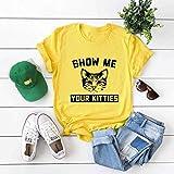 ljradj banxiu Sommer kreativ süß und lustig Tier Kurzarm T-Shirt A3051 gelb XXXXL
