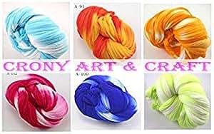 crony 6 pc Colors Nylon Flower Stocking Making Accessory Handmade Diy Crafts