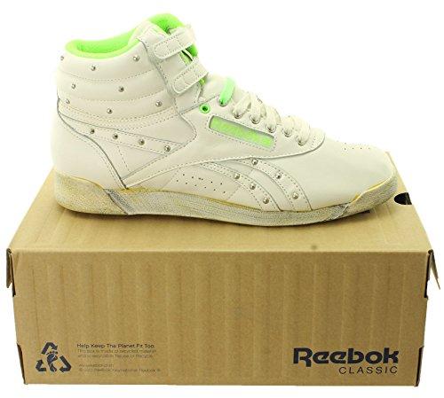 Reebok F/S HI mixte adulte, cuir lisse, sneaker high Blanc