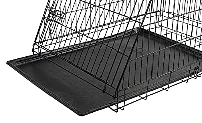 Kerbl Slanted Front Dog Cage Collapsible 2 Doors, 76 x 54 x 64 cm, Black by Kerbl (KERA5)