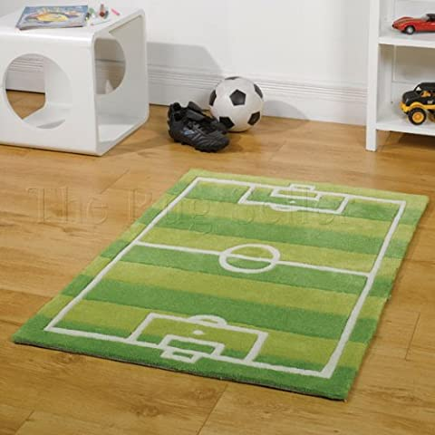 Kiddy Play Tapis terrain de foot - vert - 70 x 100 cm