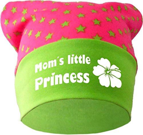 Baby KOPFTUCH Mütze (Farbe pink-lime) (Gr. 1 (56-74) Little Princess /FAT