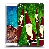 Head Case Designs Decorazione di Natale Babbo Natale Magro Cover Morbida in Gel per Xiaomi Mi Pad 4 Plus