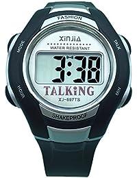 Nergo Reloj Parlante en Español para Ciegos, Niños, y Los Ancianos, Deportes Electrónicos Hablar Relojes Gatget Regalo