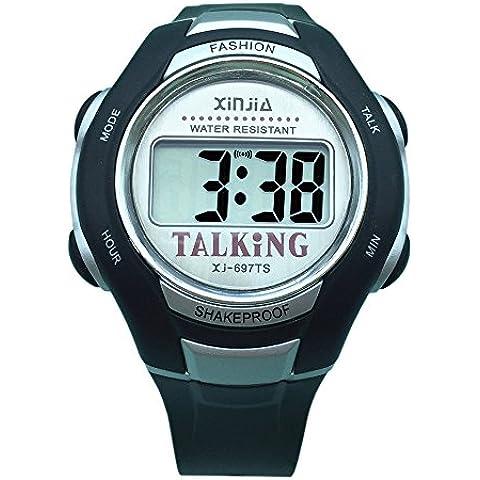 Idioma español Unisex más nuevo 2014 reloj reloj parlante para los ciegos y los ancianos deportes electrónicos hablar relojes envío