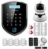 Tristan Auron Shield Watcher Kit IV Alarmanlage fürs Haus, Bewegungsmelder, Überwachungskamera, Wlan, Handy App, RFID, GSM, Funk, Smart Home, drahtlos, Wifi, SMS und Anruf, Sicherheit