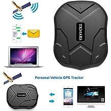 GPS Tracker 3 Mesi Standby Tracking in Tempo Reale Tracciatore di Posizione , Localizzatore Gps Geo-fence Alarm App Gratuita, Antifurto per Auto Moto Camion con Forte Magnete Batteria 5000mah TKMARS