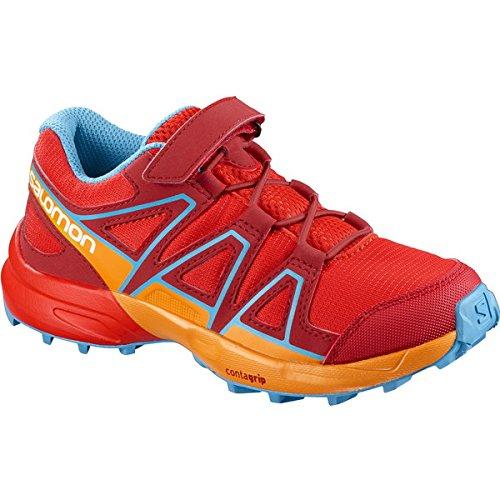 Salomon XA PRO 3D - Zapatillas deportivas infantiles, niña, grün / rosa / weiß, 10.5K UK - 29 EU