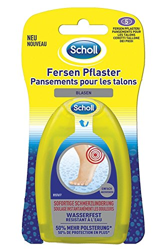 Scholl Blasen Pflaster Ferse bei Blasen an den Fersen, 2er Pack (2 x 5 Stück)