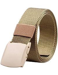 ALAIX Cinturón de nailon, de 4 cm de ancho, con hebillas dobles no métalicas