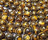 Mosaico Tigerskin Jaspe Piedras Preciosas Perlas, 10 mm y 8 mm Bola, Piedra...