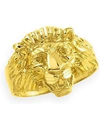 Little Treasures - 10K Men's Gold Lion Head Ring