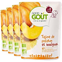 Good Goût - BIO - Tajine de Potiron et Boulgour dès 8 Mois 190 g - Lot de 4