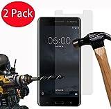 2 Pack - Nokia 6 Verre Trempé, FoneExpert® Vitre Protection Film de protecteur d'écran Glass Film Tempered Glass Screen Protector Pour Nokia 6