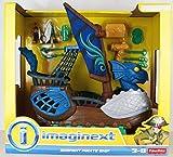 Fisher-Price - Serpent Pirate Ship - Blau - mit 2 Figuren und Extras