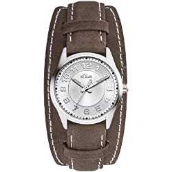 s.Oliver Damen-Armbanduhr XS Analog Quarz Leder SO-2616-LQ