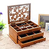 Jewelry storage box Hochwertige Holz Schmuck Aufbewahrungsbox, Schmuckschatulle, Schublade Schmuckschatulle, Europäischen Schmuck Ring Ohrringe Schmuck Aufbewahrungsbox,4