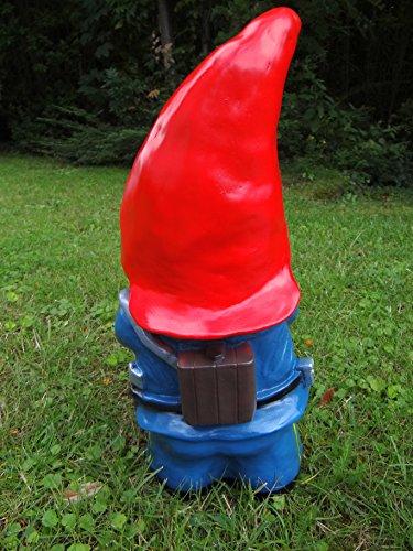 Gartenzwerg Feuerwehrmann aus bruchfestem PVC Zwerg Made in Germany Figur - 4