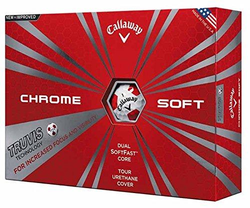 Callaway pour homme CG BL 16Chrome doux Balle de golf Taille unique Truvis White/Red