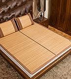 Stuoia a doppia faccia Usa --- Stuoia di bambù su due lati Stuoia di legno carbonato 1,5 m 1,8 m 0,9 m tappetini di bambù pieghevoli studenti stuoie di erba di ghiaccio di estate / tappeti di bambù stuoie di sonno --- ripiani pieghevoli naturali di bambù e rattan ( Colore : Single mats , dimensioni : 1.0*1.9m )