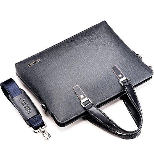 Tragen Aktentasche Business Büro Messenger Taschen Stecker Gentleman Staubbeutel für Herren grau grau free (Gry Messenger Laptop)