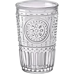Bormioli Rocco Romantic Juego de 6 Vasos 32,5 cl, Cristal Transparente, 8 x 8 x 12,5 cm