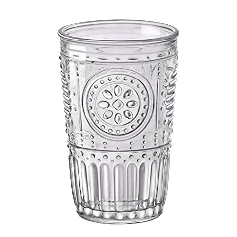 Bormioli rocco-romantic 32.5 cl Set of 6 Clear Glass Beaker 8 x 8 x 12.5 cm