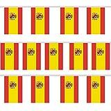 Trixes Wimpelgirlande mit 12 rechteckigen Spanien Flaggen für Nationale Feierlichkeiten und...