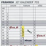 Franken DS703A Datumstreifen (für JK703, selbstklebend) 140 x 420 mm, transparent