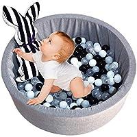 Gereton Kids Play - Pit de Pelota para Piscina, Suave, Juguetes de Piscina para niños de 35 x 13 Pulgadas, Color Gris Oscuro