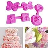 Weihnachten Kuchen, xinxinyu Blume Form Fondant Kuchen Form Silikon Küche Backen Schokolade-Sugarcraft Mould Dekorieren Werkzeug