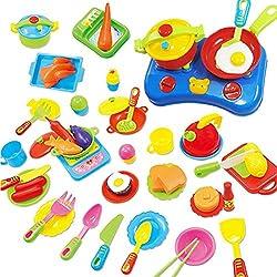 Peradix Utensilios de Cocina 60 Piezas para Niños