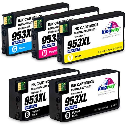 Kingway 953XL patronen Ersatz für HP 953XL 953 XL Druckerpatronen Kompatibel mit HP OfficeJet Pro 8710 7740 8720 8715 8218 8725 8718 8730 8740 8728 7720 7730 8210(2 Schwarz 1 Cyan 1 Magenta 1 Gelb) - 1 X Magenta-paket