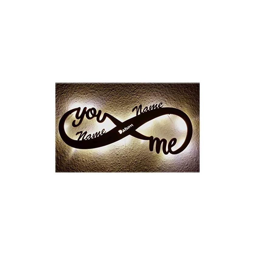 Schlummerlicht24 Led Unendlichkeitszeichen mit Namen Liebe Liebesbeweise 1