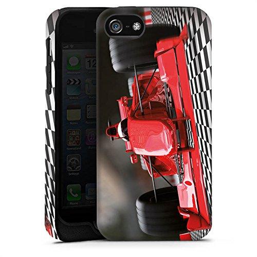 Apple iPhone 5s Housse Outdoor Étui militaire Coque Formule 1 Voiture de sport Voiture Cas Tough terne