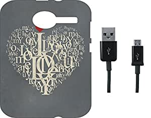 BKDT Marketing Printed Soft Back Cover Combo for Lava Flair P8 With Charging Cable