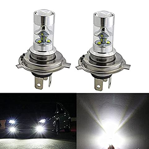 KaTur 2pcs H4 Headlight Light Bulb High Low Dual Beam