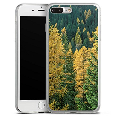 Apple iPhone X Slim Case Silikon Hülle Schutzhülle Wald Bäume Natur Silikon Slim Case transparent