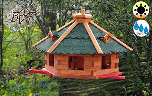Vogelhaus, groß, XL mit Standfuß und Silo - 2