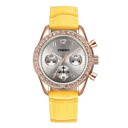 018b338104ec Time100 W50298L.04A Fashion Reloj pulsera de curazo para mujer