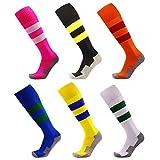 Longues chaussettes sportives de football de chaussettes de football de football de YUTUTU