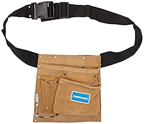 Silverline 589704 Nail and Tool Pouch Belt 5 Pocket, 220 x 220 mm
