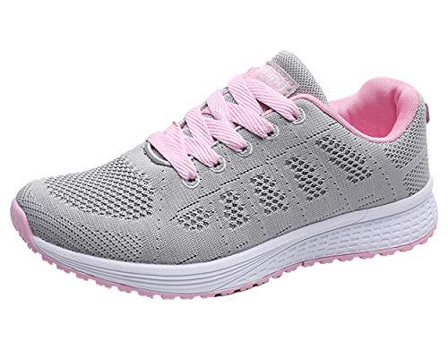 Decai Zapatillas de Deportivos de Running para Mujer Deportivo de Exterior Interior Gimnasia Ligero...
