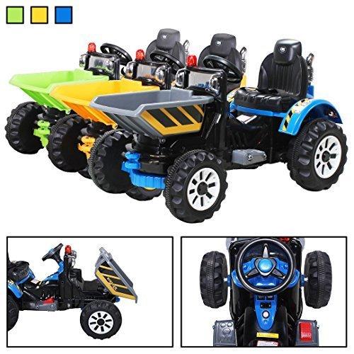 Kinder Radlader JS328C 2 x 25 Watt Motor Elektro Lader Kinderauto Kinderfahrzeug Spielzeug für Kinder Kinderspielzeug (blau)