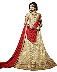 DesiButiks Wedding Wear Pleasant Chickoo Viscose Lehenga