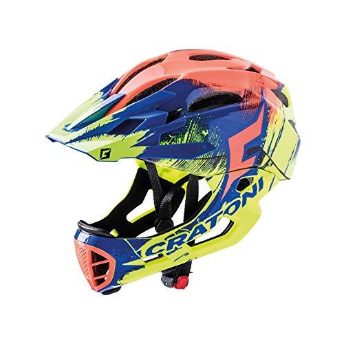 Cratoni Fahrradhelm C-Maniac Pro (MTB) Gr. M/L (54-58cm) gelb/blau/orange Glanz (1 Stück)